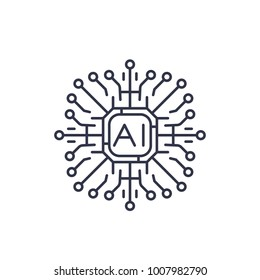 Artificial intelligence, AI icon