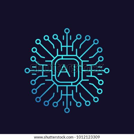 Intelligence icon vector