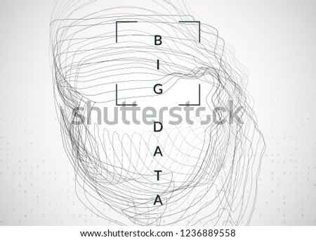 Artificial Intelligence Background Technology Big Data Stock Vector