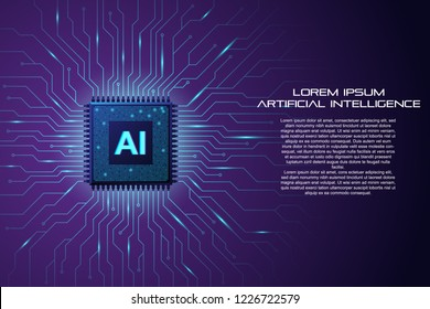 Artificial Intelligence background template