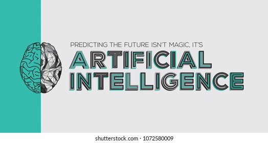 Artificial intelligence concept with modern typography.