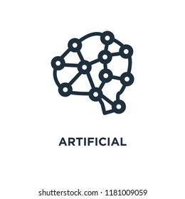 Artificial intelligence icon. Black filled vector illustration. Artificial intelligence symbol on white background. Can be used in web and mobile.
