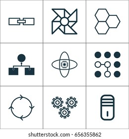 Artificial Intelligence Icons Set. Collection Of Information Components, Related Information, Laptop Ventilator And Other Elements. Also Includes Symbols Such As Information, Diagram, Algorithm.