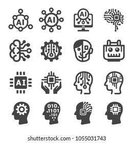 artificial intelligence,AI icon set