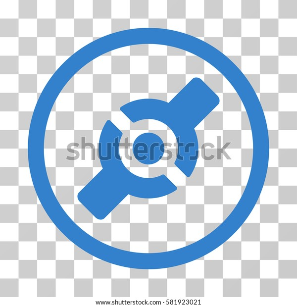 Artificial Joint vector pictogram. Illustration style is a flat iconic cobalt symbol on a transparent background.