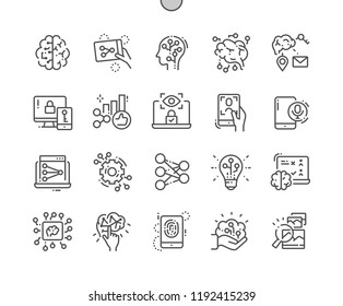 Artificial neural network Well-crafted Pixel Perfect Vector Thin Line Icons 30 2x Grid for Web Graphics and Apps. Simple Minimal Pictogram