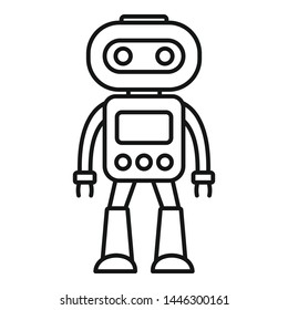 Artificial robot icon. Outline artificial robot vector icon for web design isolated on white background