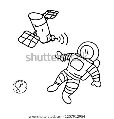 Art Book Cover For Artificial Satellite