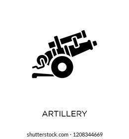 artillery icon. artillery symbol design from Army collection.