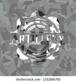 Artillery on grey camo pattern