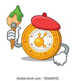 Artist BitConnect coin character cartoon