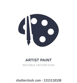 artist paint palette icon on white background. Simple element illustration from UI concept. artist paint palette icon symbol design.