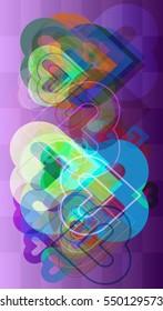 artistic arrangement around love vector background, technology at current texture