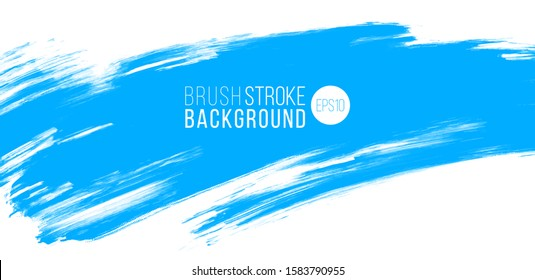 artistic backdrop, vector with brush strokes, brush paint look background with blue color hand painted stains