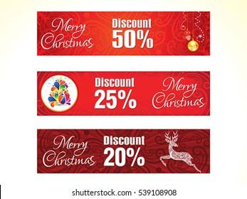 artistic christmas web banner vector illustration