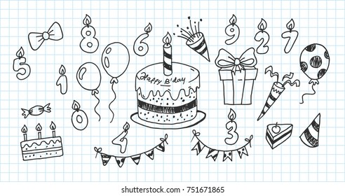Admirable Sketch Birthday Cake Images Stock Photos Vectors Shutterstock Funny Birthday Cards Online Alyptdamsfinfo