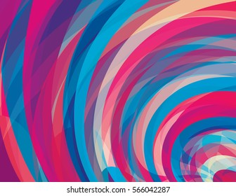 Artistic design background with amaranth and cerulean blue swirls. Vector graphic pattern. CMYK colors