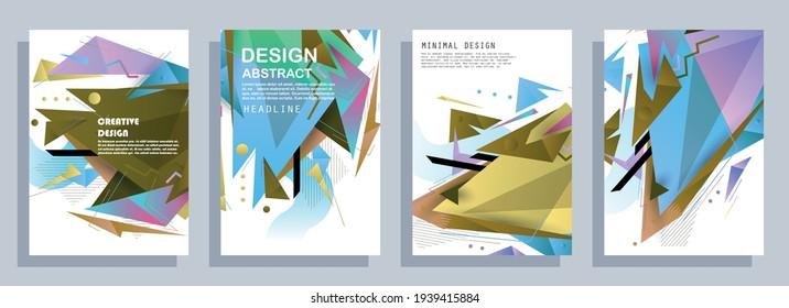 Artistic design of covers. Creative colors background. Fashionable futuristic design