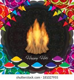 artistic elegant colorful background design for Indian festival Holi. vector illustration