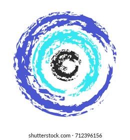 artistic greek blue evil eye vector - symbol of protection