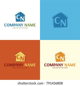 Artistic House Logo and Icon - Vector Illustration