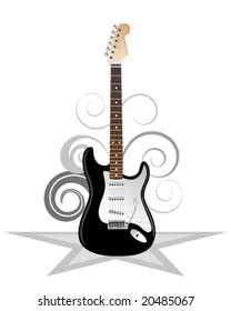 Artistic illustration of electric guitar