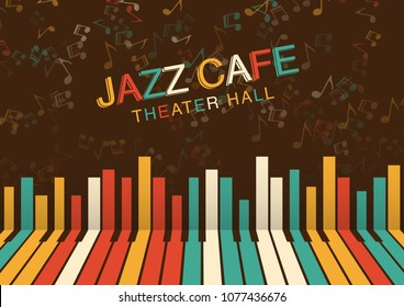 Artistic jazz night background in color. Poster for the jazz festival