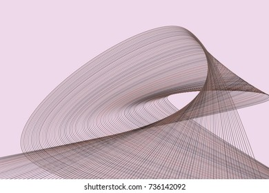 Artistic line & curve background pattern abstract. Vector illustration graphic.