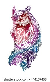 7bd163539a2a5 Owl Tattoo Images, Stock Photos & Vectors | Shutterstock