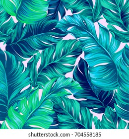 artistic palms pattern with seamless vector design. amazing palm trees layers. Pattern for summer designs.