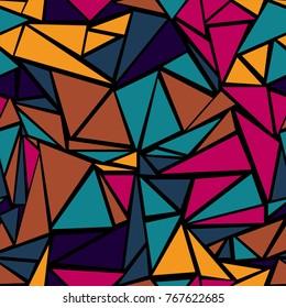 Artistic triangular grid geometric seamless background. Minimal triangles polygonal template. Diamond triangle brochure minimal design for wrapping paper.