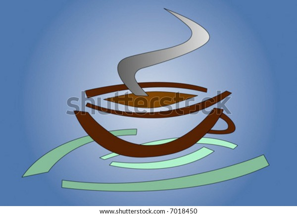 artistic vector depicting a coffee cup - logotype style