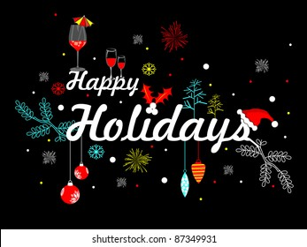 Artistic vector with party element for happy holiday