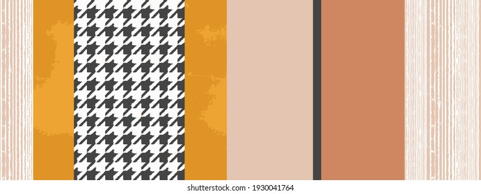 Artistic vector shibori geo deep dye geo tie stripe with pie de poule coloured boho Pattern seamless Dyed Print design . Abstract Texture Hand Ethnic Batik for runner carpet, rug, scarf, curtain, wear