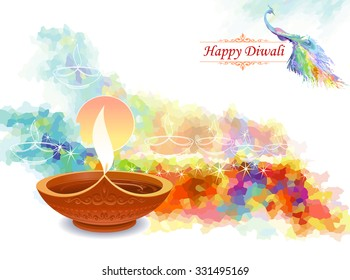 Diwali greetings images stock photos vectors shutterstock artistic water colored diwali greeting m4hsunfo