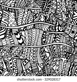 Artistically ethnic pattern. Hand-drawn, ethnic, floral, retro, doodle, vector, zentangle tribal design element. Pattern for coloring book.