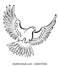 Drawing Dove Images, Stock Photos & Vectors | Shutterstock