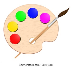The Color Palette Of The Artist Images Stock Photos Vectors