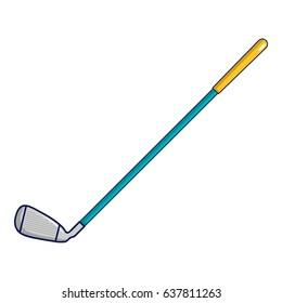 artoon illustration of golf club vector icon for web
