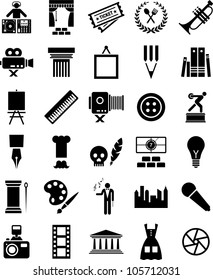 Arts and enterteinment icons