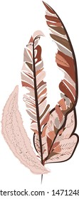 artsy style vectos leaves texture and pattern