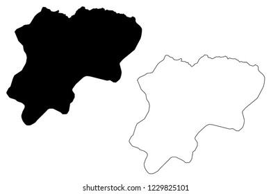 Artvin (Provinces of the Republic of Turkey) map vector illustration, scribble sketch Artvin ili map