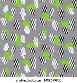 Arty Dotted Seamless Pattern Background