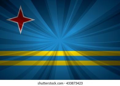 Aruba flag vector illustration.