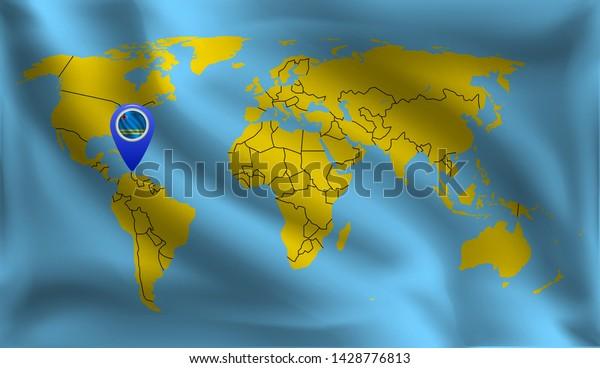 Arubas Location Mark On World Map Stock Vector (Royalty Free ...
