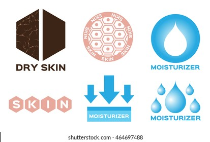 Ary skin vector icon with moisturizer