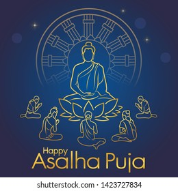 Asalha Puja Day,This day to honor Buddha's first sermon after the Lord Buddha obtained Enlightenment.