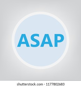 ASAP (As Soon As Possible) acronym- vector illustration