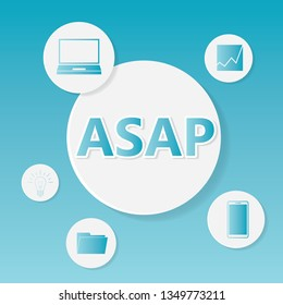 ASAP (As Soon As Possible) business concept- vector illustration