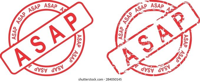 asap circle stamp sticker in vector format very easy to edit